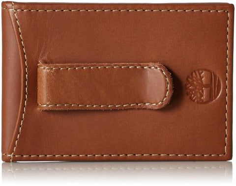 Timberland Men's Flip Clip Wallet Minimalist Slim Money Clip, Brown, Gift Box