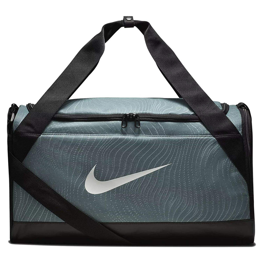 Nike Brasilia Duffel Bag, Clay Green/Black-White, Small