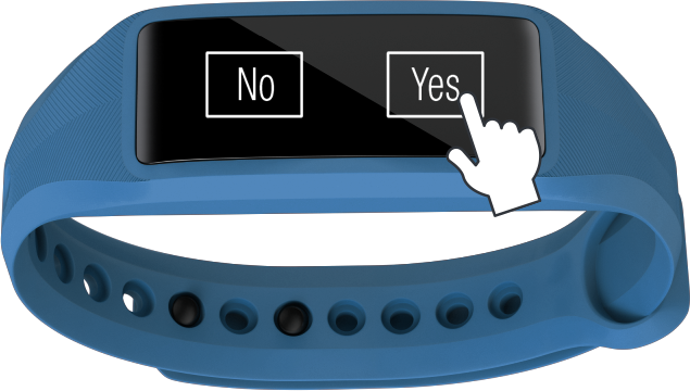 rather than logging everything you ate for the day simply log yes or no directly on your activity tracker
