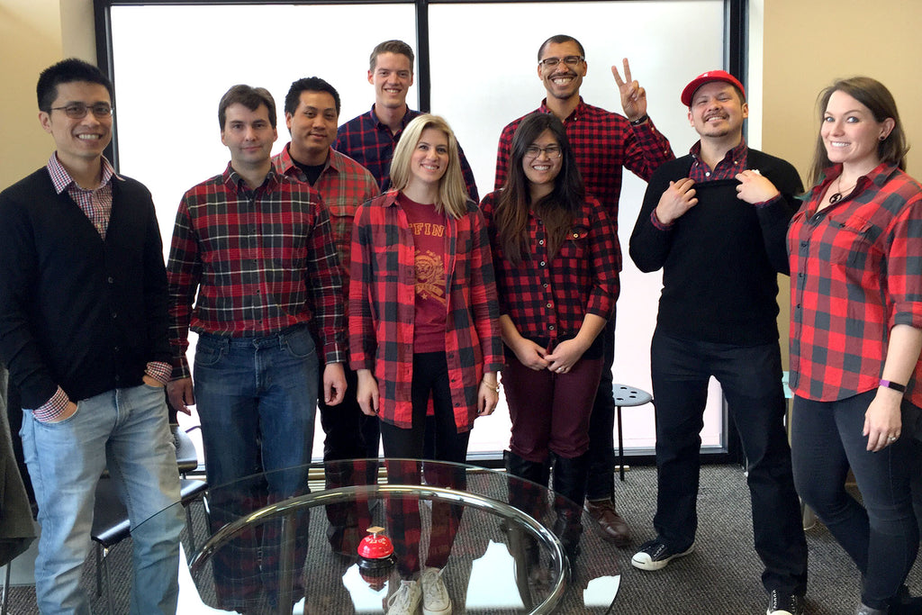 Striivers clad in Buffalo Check/plaid