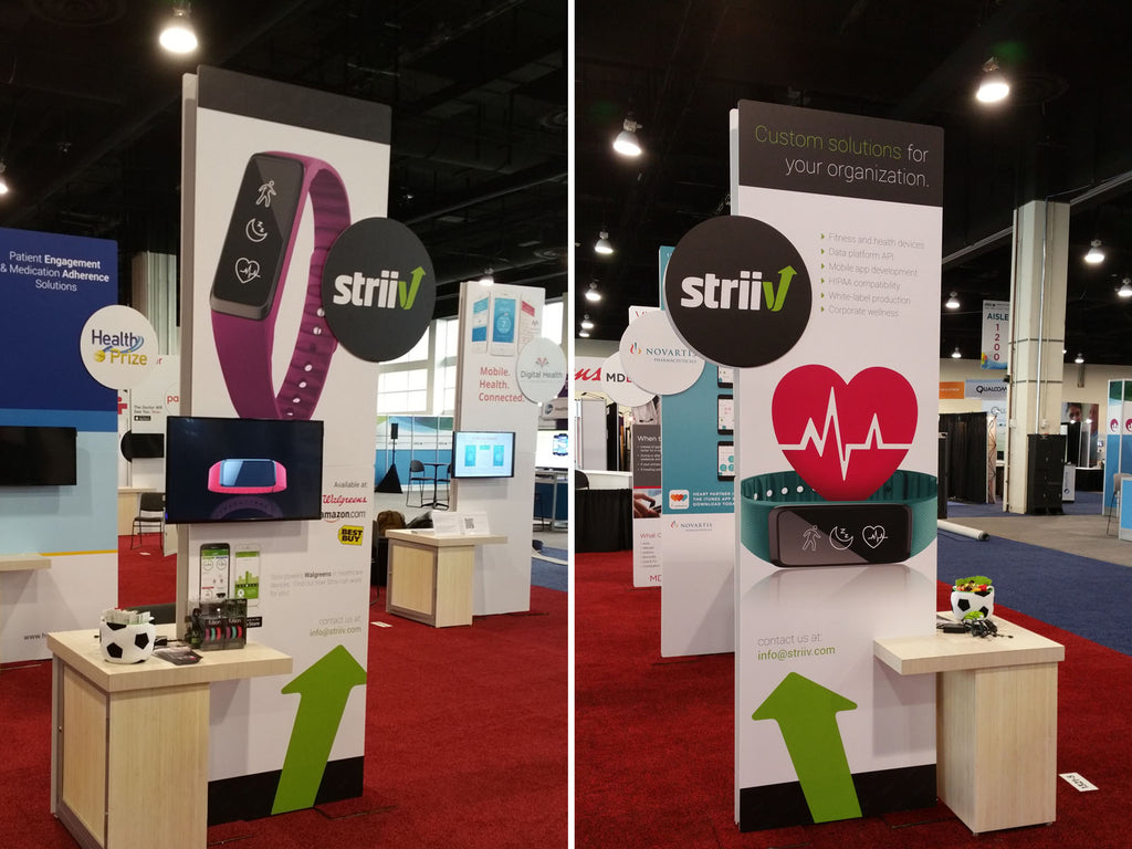 Striiv's booth at mHealth Summit 2015
