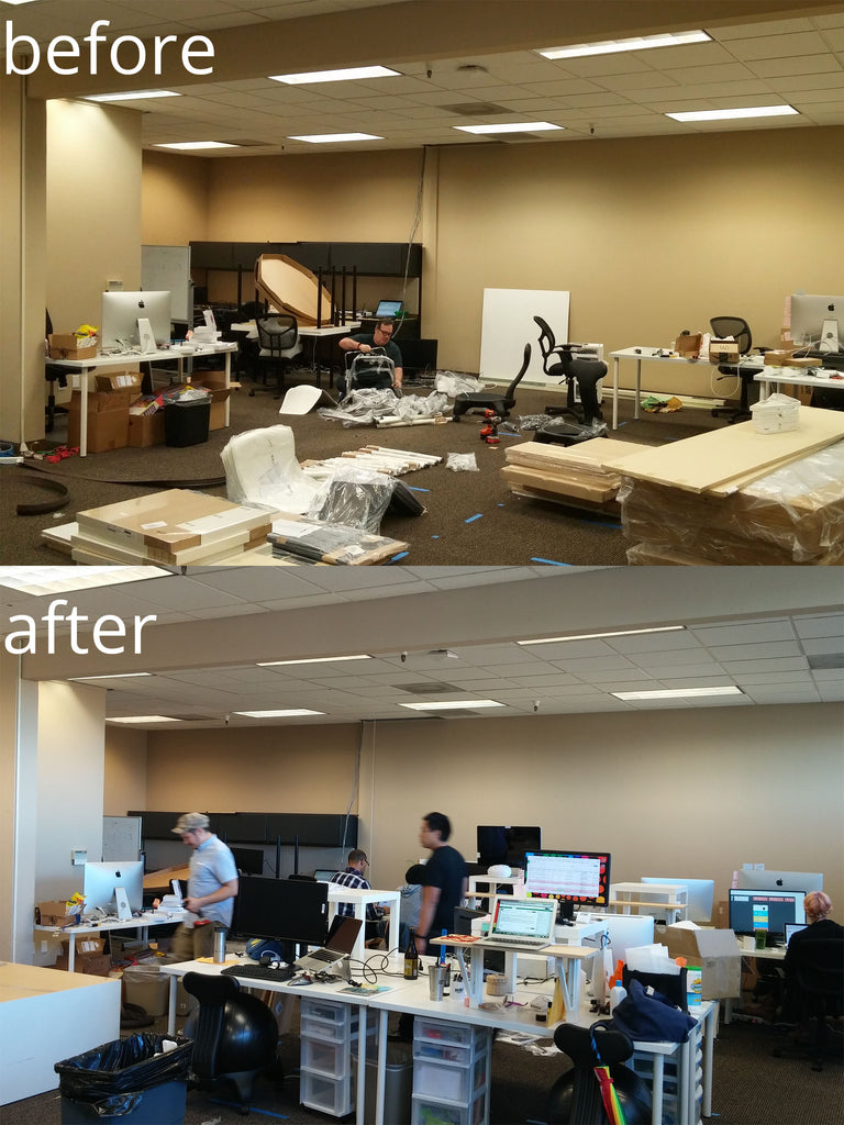 New office, before and after