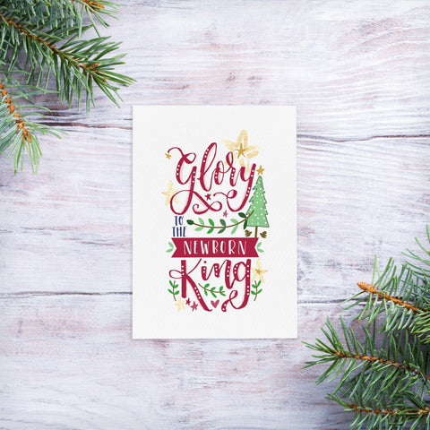 Newborn King - Christmas magnet