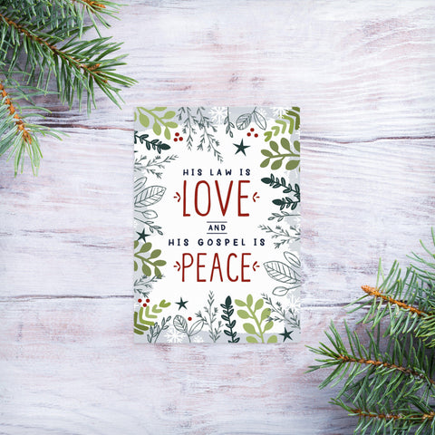 His law is love - Christmas magnet