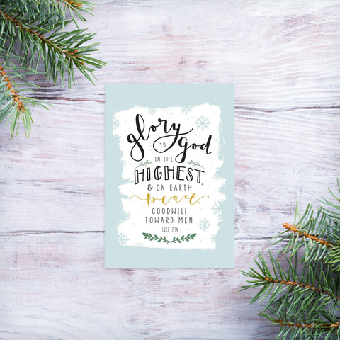 Glory to God - Christmas magnet