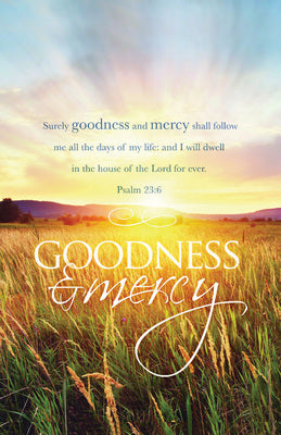 Goodness And Mercy Bulletin (Pack of 100)