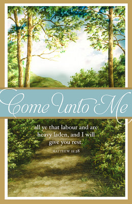 Come Unto Me Bulletin (Pack of 100)