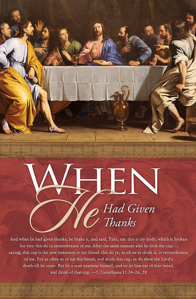 When He Had Given Thanks Bulletin (Pack of 100)