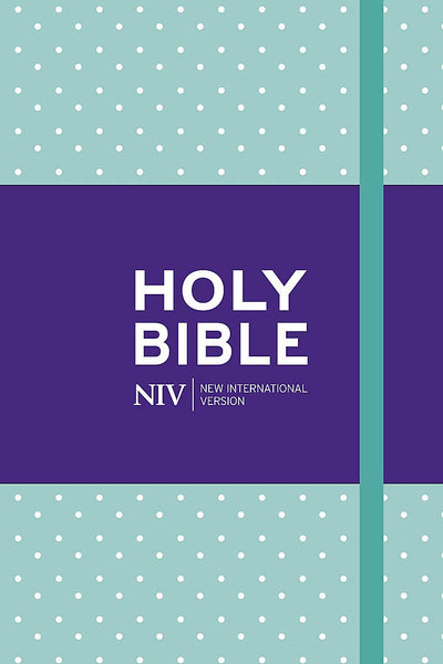 NIV Pocket Mint Polka-Dot Notebook Bible Hardback