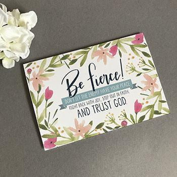Be Fierce - A6 Greeting Card
