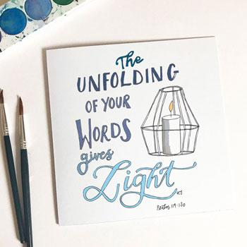 The Unfolding of your Words Card & Envelope