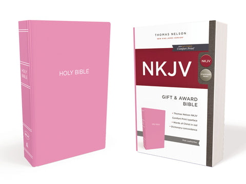 NKJV Gift And Award, Pink, Red Letter Edition