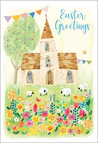 Easter Cards: Easter Greetings (Church) (Pack of 5)