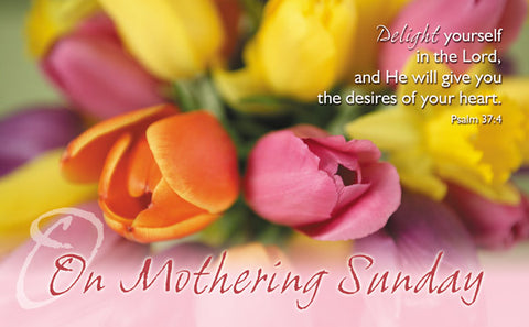 On Mothering Sunday - Postcard Tulips (Pack of 24)