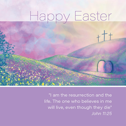 Easter Cards: Happy Easter (Cross) (Pack of 5)