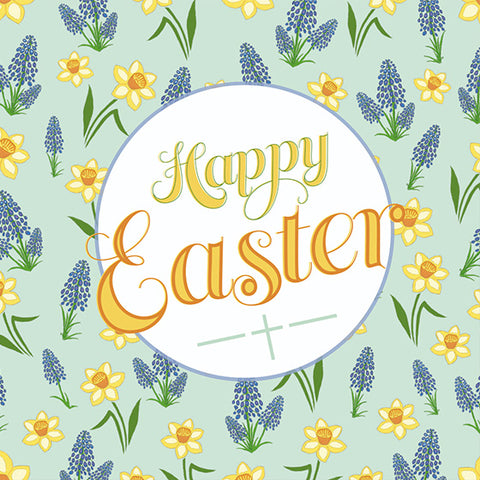 Easter Cards: Happy Easter (Flower) (Pack of 5)