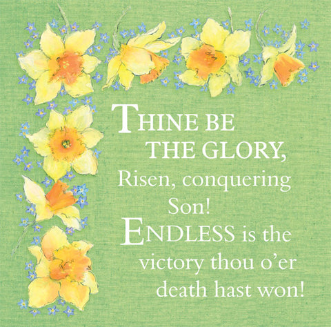 Easter Cards: Thine Be The Glory (Pack of 5)