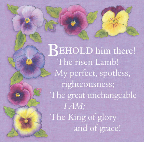 Easter Cards: Behold Him There (Pack of 5)
