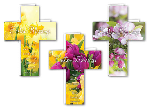 Easter Mini Crosses: Assorted Pack of 24 with Envelopes