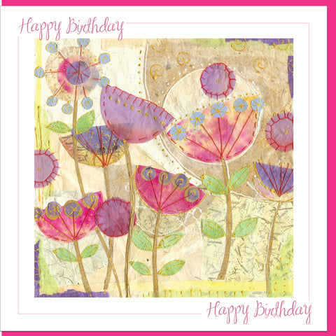 Birthday Poppies Greetings Card