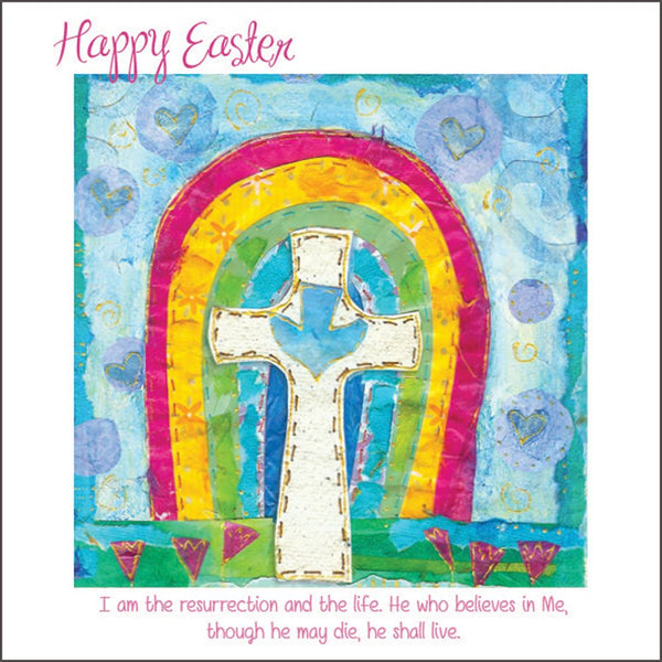 Easter Rainbow, pack of 5 Easter Cards