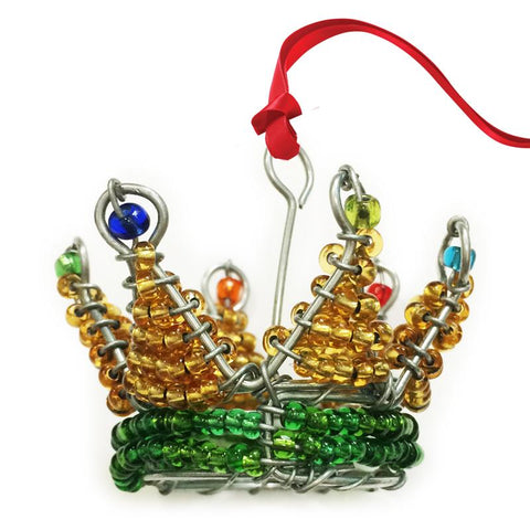 Beaded Crown 3D hanging Christmas decoration