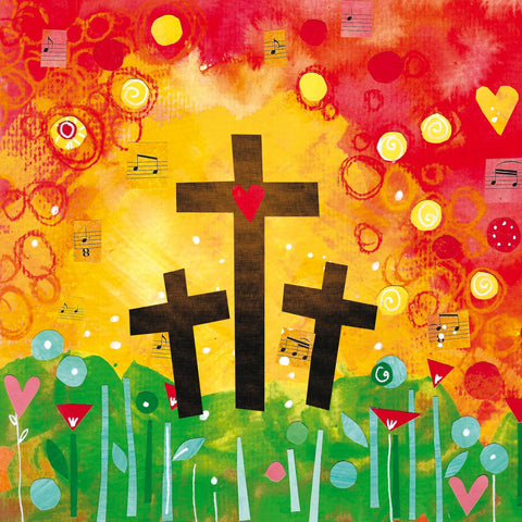 Three crosses, pack of 5 Easter Cards