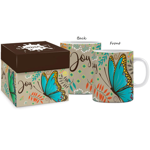 Joy butterfly Mug & Gift box