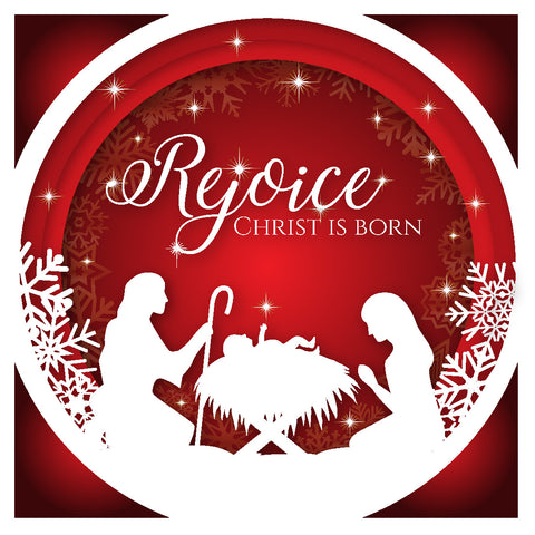 Rejoice Christ is Born Christmas Cards (Pack of 10)
