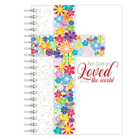 God so loved the world A5 notebook
