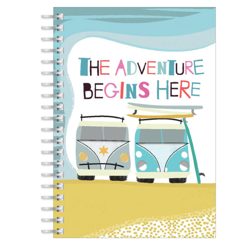 The adventure begins here A5 notebook