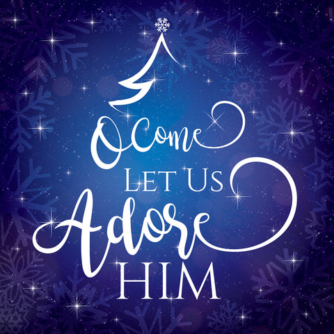 Come Let Us Adore Him Christmas Cards (Pack of 10)