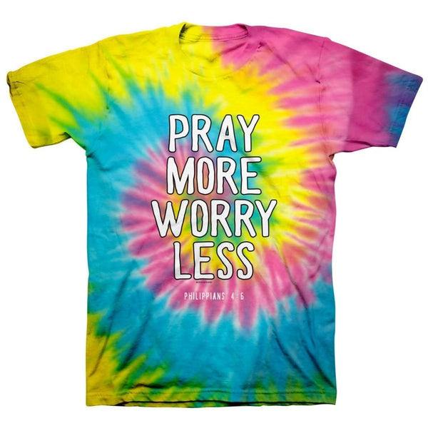 Pray More Tie Dye T-Shirt, 2XLarge