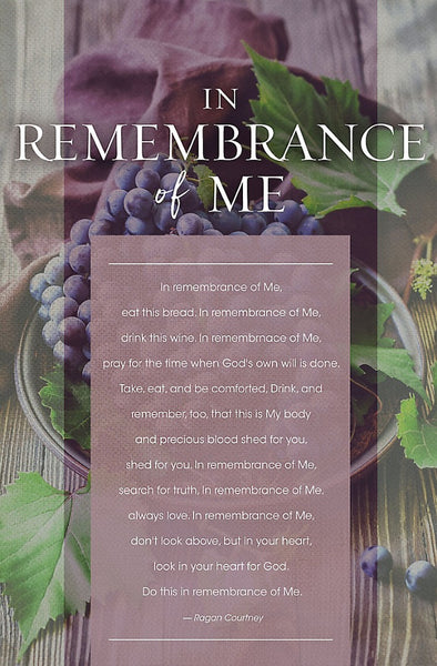 In Remembrance Of Me Bulletin (Pack of 100)