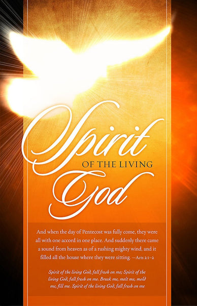 Spirit Of The Living God Bulletin (Pack of 100)