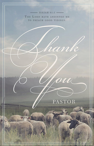 Thank You Pastor Bulletin (Pack of 100)