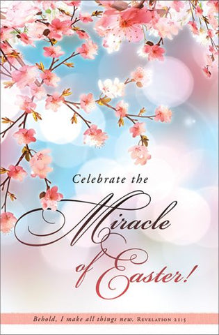 Celebrate the Miracle of Easter Bulletin (Pack of 100)