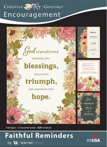 Boxed Card Encouragement - Faithful Remiders (pack of 12)