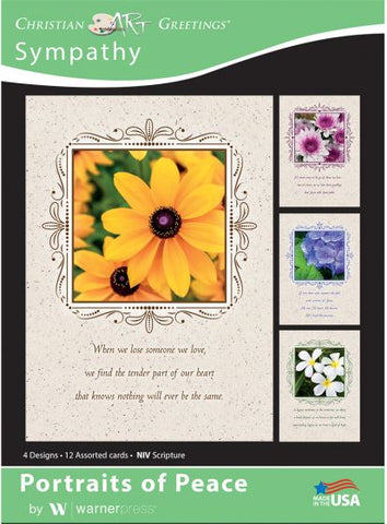 Boxed Card Sympathy - Portraits of Peace (pack of 12)