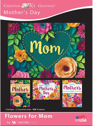Boxed Card - Flowers for Mom (pack of 12)