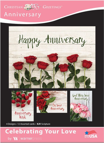 Celebrating Your Love Anniversary Boxed Cards (pack of 12)