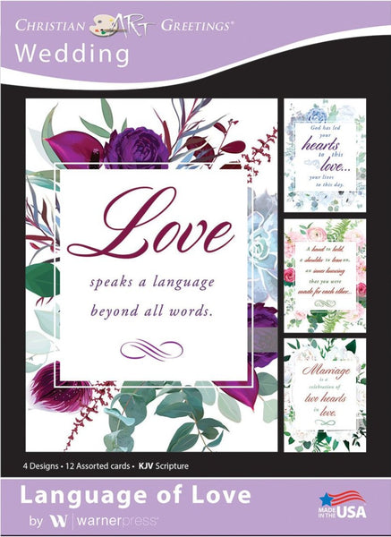 Language of Love Wedding Boxed Cards (pack of 12)