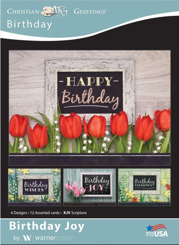 Birthday Joy Boxed Cards (pack of 12)