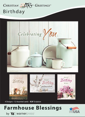 Farmhouse Blessings Birthday Boxed Cards (pack of 12)