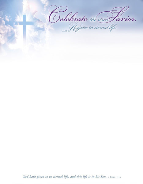 Celebrate the Risen Savior Easter Letterhead (pack of 100)