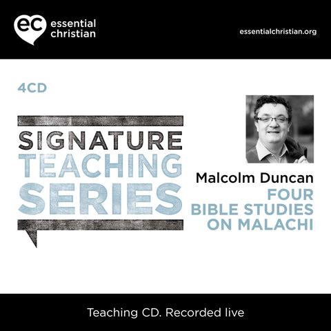Malachi: Signature Teaching Series 4 Talk Audio CD