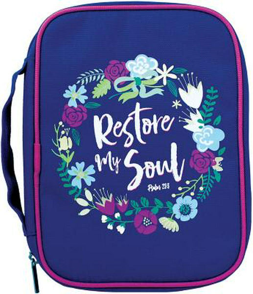 Restore My Soul Canvas Bible Cover, Medium