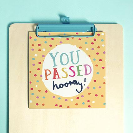 You Passed Greeting Card & Envelope