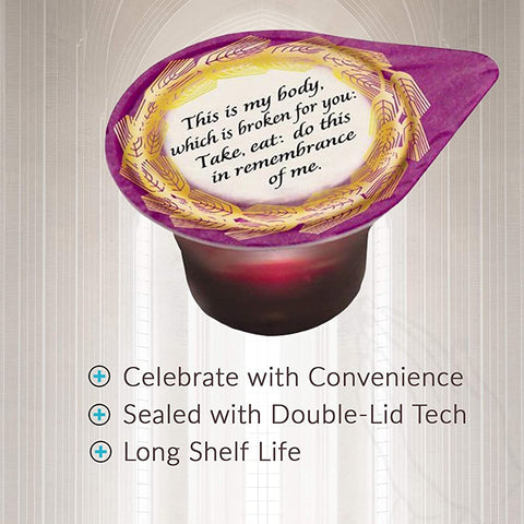 Celebration Cup Box of 500 - Prefilled Communion Wafer & Juice