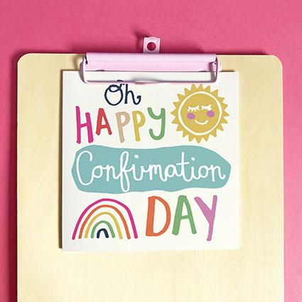 Oh Happy Confirmation Day Greeting Card & Envelope